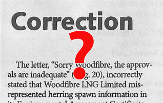 Sorry Woodfibre [LNG], the approvals are inadequate